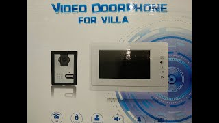 Обзор домофона XSL-V70F. Подключаем и настраиваем.