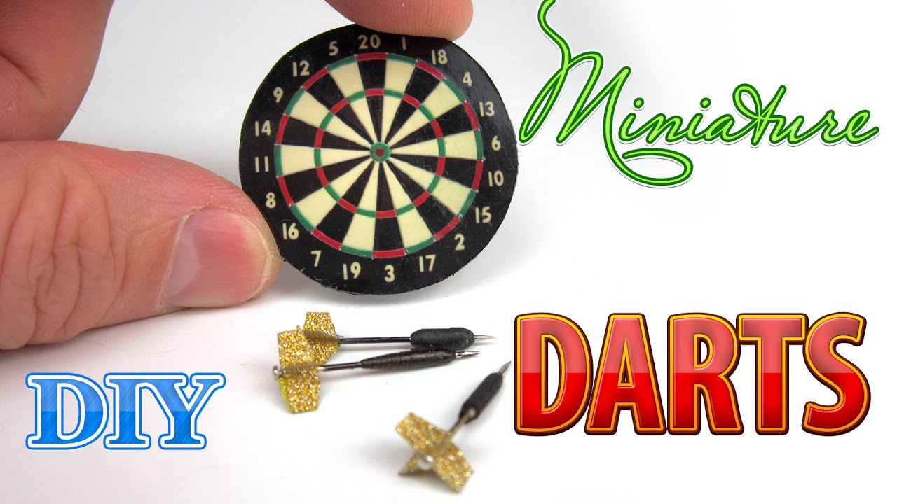 image relating to Printable Dart Board referred to as Do it yourself Miniature Dart Board with Darts DollHouse