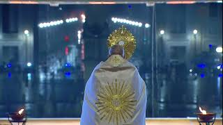 Watch the eucharistic benediction by pope francis during ' urbi et orbi' blessing.#popefrancis #urbietorbi #eucharisticbenediction #shalomworld #blessings #f...