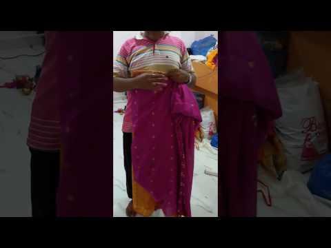 How to Fold Readymde Nauvari Saree