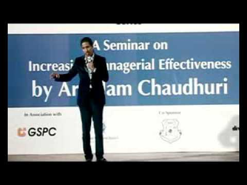 IIPM Director Arindam Chaudhuri speaking at Vadodra