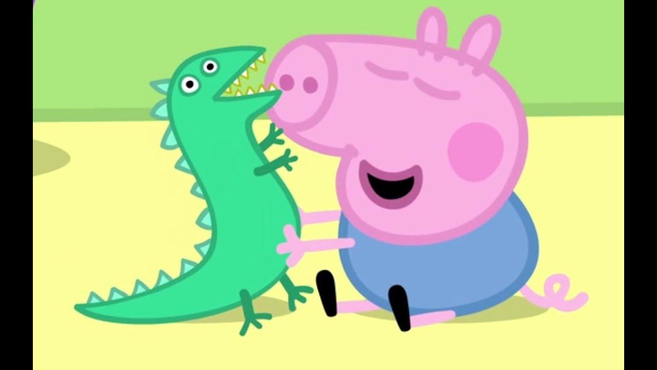Свинка пеппа джордж и динозавр - YouTube