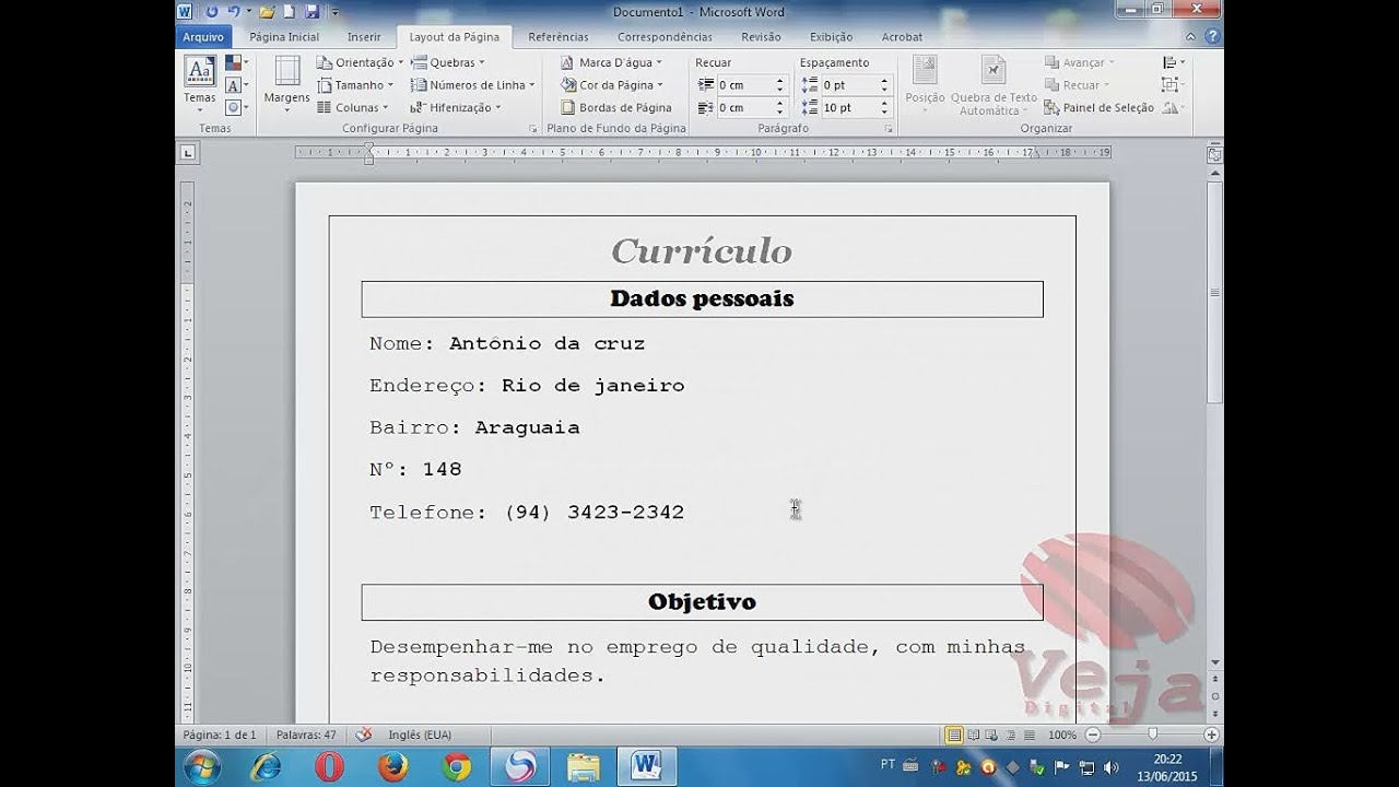 Asombroso Construir Un Currículum En Microsoft Word 2007 Foto ...