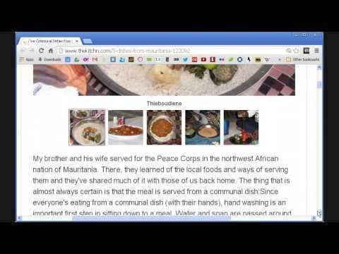 Food & Tea in Mauritania