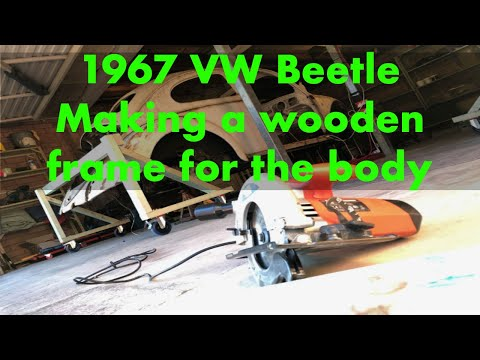 Building wooden dollies for VW Beetle