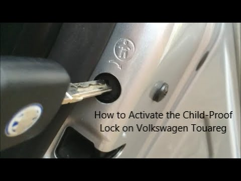How to Activate the Rear Door Child Lock on a Volkswagen Touareg - YouTube