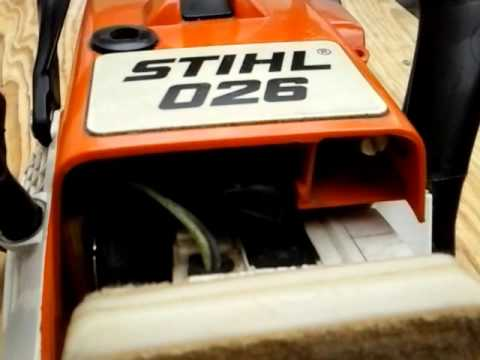 stihl 026 pro with 18 39 bar zipping thru wood like a hot. Black Bedroom Furniture Sets. Home Design Ideas