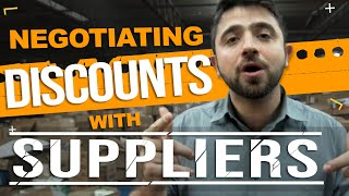 How to Negotiate Discounts with Suppliers and Distributors! (Don't miss out on BETTER PRICING!)
