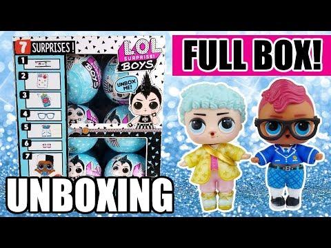 LOL Surprise Boys Series Full Unboxing | L.O.L. Boy Full Box + #LuckyFortuneFriday