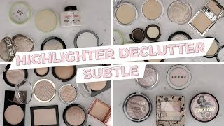 Highlighter Declutter - Natural & Subtle Highlights (with swatches)