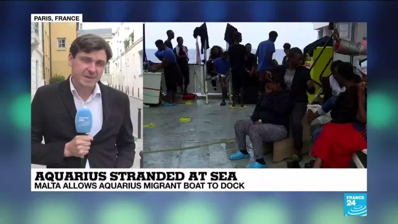 فرانس 24:Aquarius stranded at sea: hardline policies have resulted in catastrophic situations