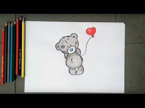 Как нарисовать мишку Тедди ❤️