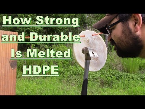 How strong is melted HDPE