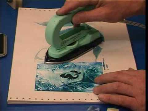 Encaustic Art Lesson 03 Rubber Stamping Youtube