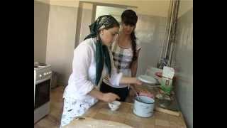 """чеченская кухня""""жижиг галнаш"""".avi"""