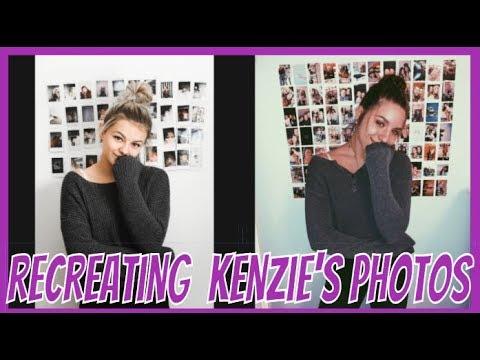 Recreating Kenzie Ziegler Instagram photos