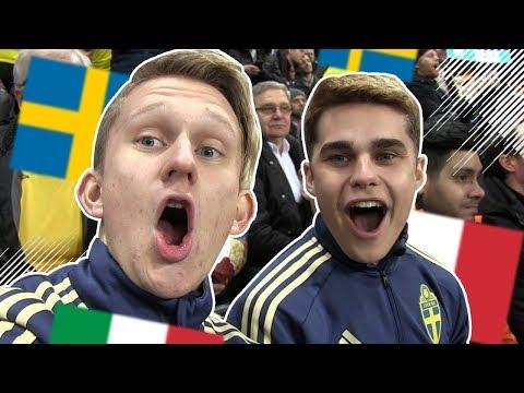 OMFG VI VINNER MOT ITALIEN!!! VM-PLAYOFF SVERIGE - ITALIEN | MED OLLE MCDULLE & JEWANDERZ