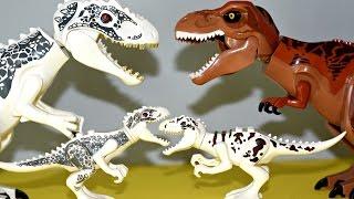 10+ Lego Dinosaurs Jurassic World Toys - Indominus Rex, T-Rex, Raptors, Triceratops
