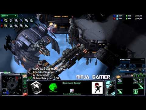 Starcraft 2 Legacy of the Void HD Ultra   Luckiest Mistake Ever! Terran vs Terran Archon Mode