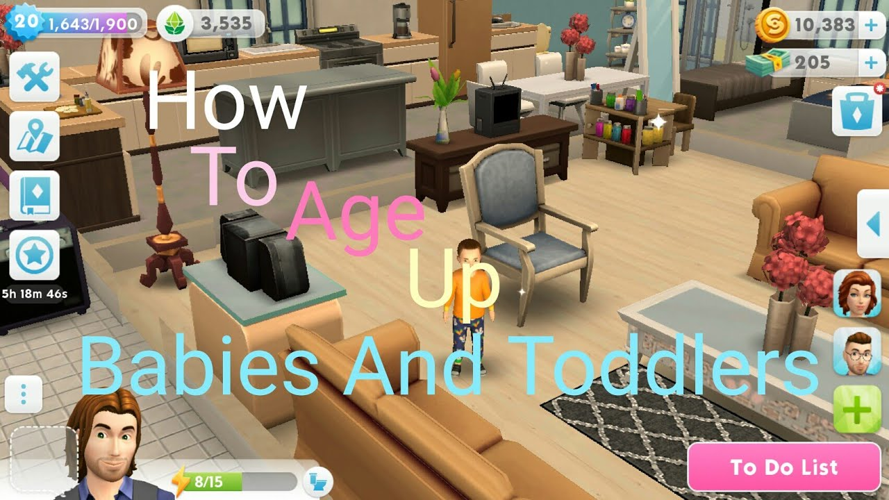 the sims mobile how to age up your babies and toddlers after