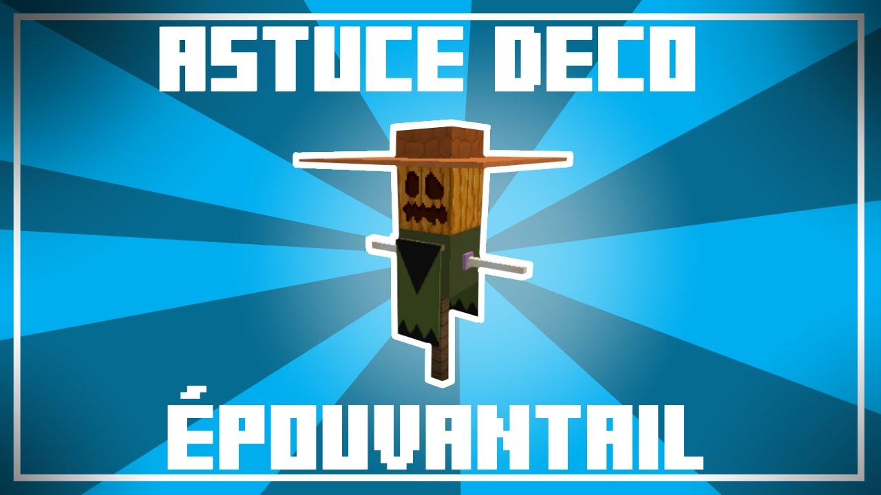 Astuce Dco Halloween  Un EPOUVANTAIL pour votre jardin dans Minecraft   YouTube