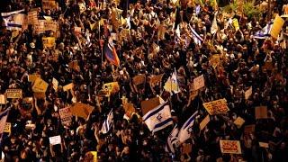 Protestas en Israel: miles de manifestantes piden la renuncia de Netanyahu
