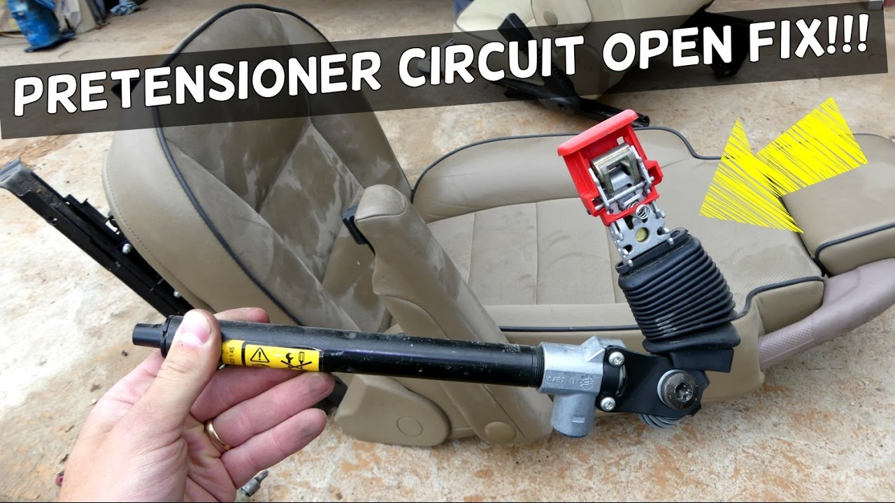 2005 Mazda 6 Belt Diagram Jet Engine Parts Seat Pretensioner Circuit Open Code Error Fix Air Bag Light - Youtube