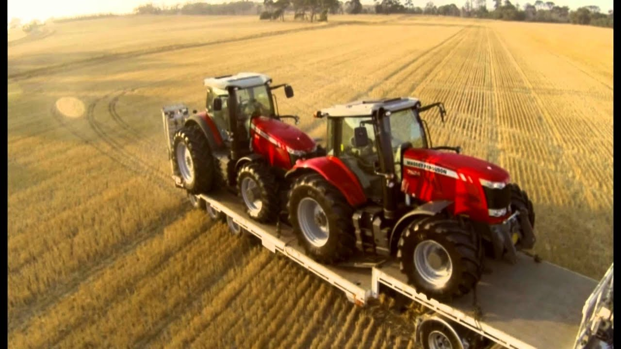 Hd Tractor Desktop Wallpapers: MF 8690 And MF7624 Aerial Footage