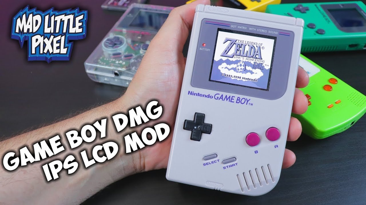 Classic Nintendo Game Boy IPS LCD Mod – The Ultimate DMG Screen!