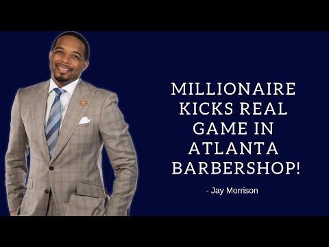 Millionaire kicks real game in Atlanta Barbershop