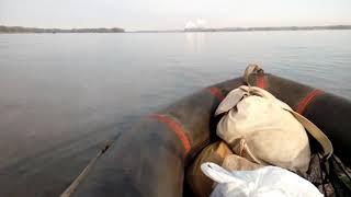 Рыбалка с лодки на поплавочку в Келеберде. Днепр