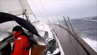 Burrasca in mar Ionio forza 8 - barca a vela - Bavaria 49 by Michele Maestrello