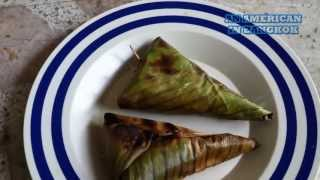 Eating Thai Food -  Sticky Rice With Banana Or Khao Niao Gluay (ข้าวเหนียวกล้วย)