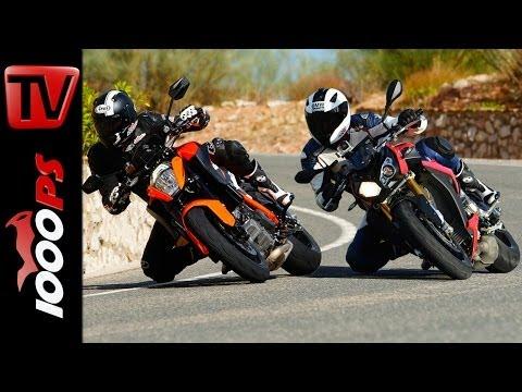 Vergleichstest | KTM 1290 Super Duke R vs BMW S 1000 R | Action, Onboard, Fazit
