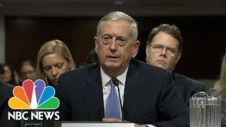 General James Mattis Stresses 'Very, Very Hig...