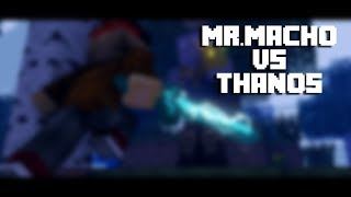 MR MACHO VS THANOS   SPEED ART RENDER MINECRAFT