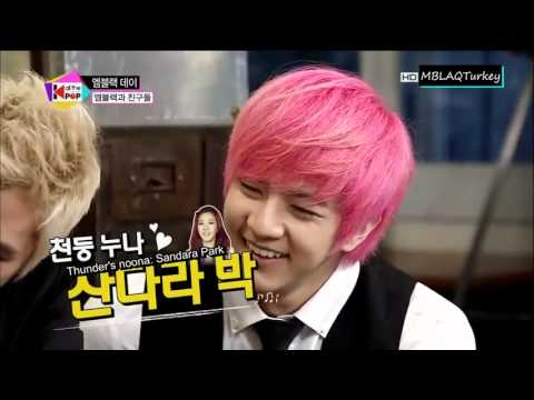 130723 MBLAQ REACTION to 2NE1 DARA PHONE CALL!