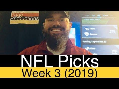 NFL Week 3 Picks (2019) | Expert Football Betting Predictions | ATS, O/U & Pick'em | DFS Injury Info