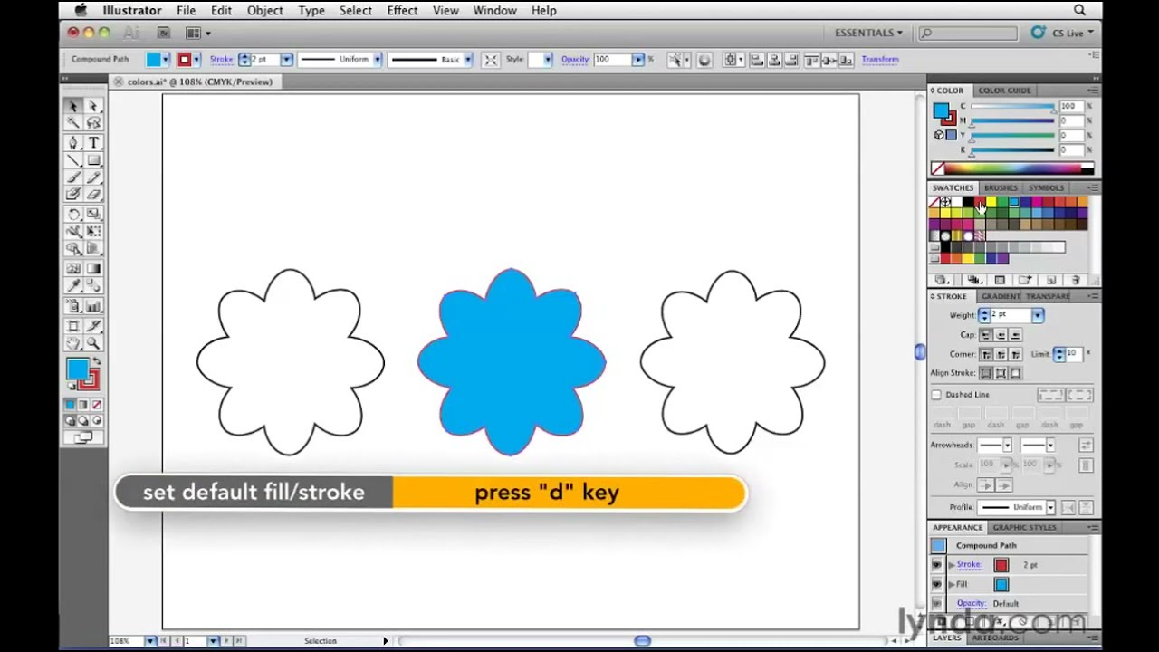 Illustrator Tutorial How To Apply Color To Artwork Lynda Com Youtube