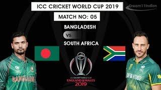 (Live) BAN Vs SA    World Cup 2019   Live streaming