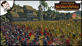 BRETONNIA PARAVALESE TOWN v 10000 ZOMBIES! Total War WARHAMMER Siege Mod Gameplay