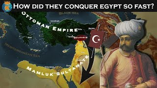 How was Egypt conquered by the Ottomans in just 1 Year?