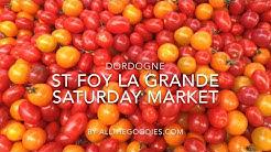 Saturday Market in St Foy la Grande, Dordogne, France | allthegoodies.com