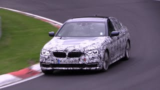 2017 bmw 5 series g30 testing on the nurburgring