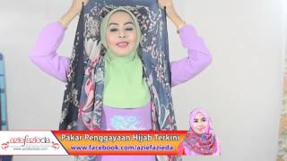 Hijab tutorial : Shawls sweet printed 2 gaya dalam 1 by azie fazieda