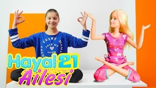 Hayal Ailesi 21. Polen ve Barbie yoga yapıyorlar
