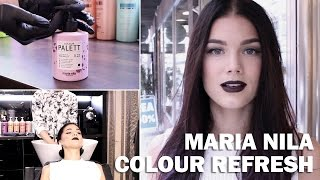 Maria Nila Colour Refresh (with subs) - Linda Hallberg Makeup Tutorials Thumbnail