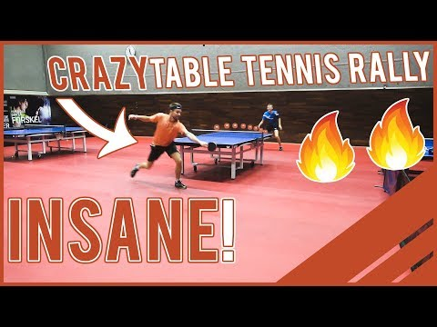 Unbelievable Table Tennis Rally Between Maze And Pitchford! 😱