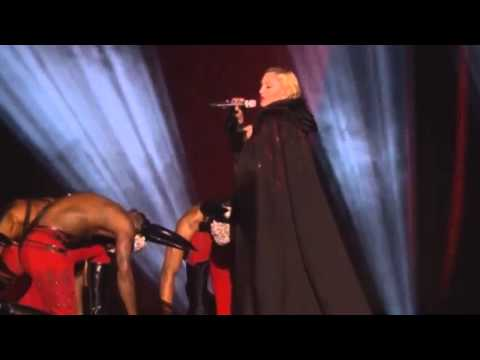 Madonna falls down during BRIT Awards 2015