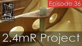 International 2.4mR Sailboat Project - Episode 36 - Installing the rudder tube